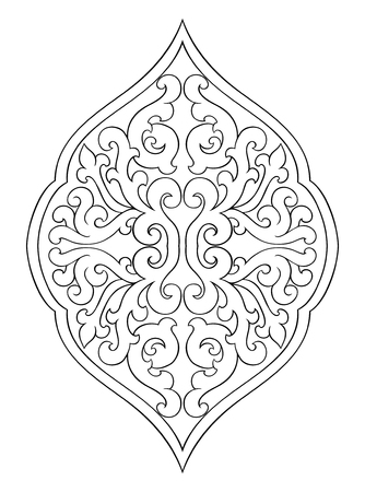 Abstract medallion for design template for carpet, wallpaper, textile and any surface vector pattern on a white background.