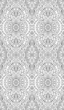 Abstract pattern with damask. Seamless filigree ornament.