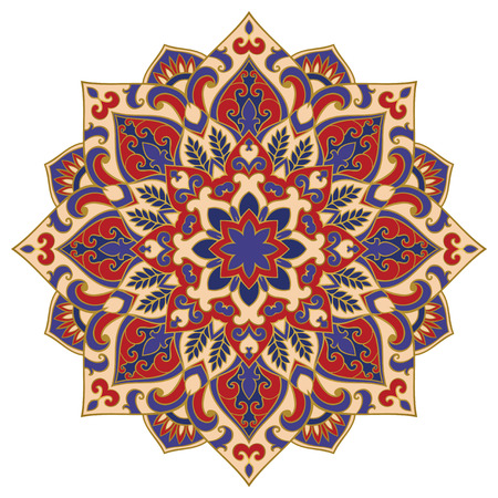 Vector abstract mandala. Design element. Colorful ornament.