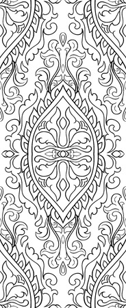 Abstract pattern with damask design