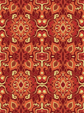 Abstract pattern. Seamless filigree ornament. Floral template for wallpaper, textile, shawl, carpet.