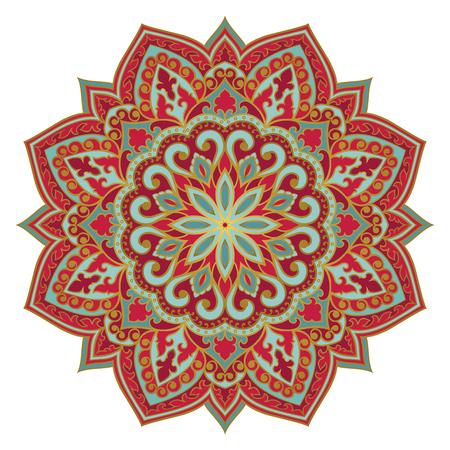 Vector abstract mandala. Design element. Oriental elegant ornament. Illustration