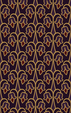 Pattern with abstract flowers. Purple floral ornament. Template for wallpaper, textile, shawl, carpet and any surface.