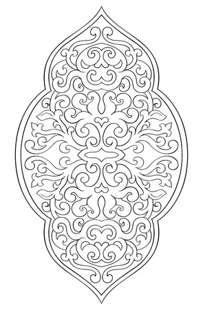 Abstract medallion for design. Template for carpet, wallpaper, textile and any surface. Vector pattern on a white background. 일러스트