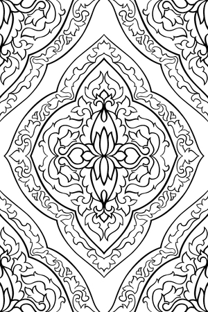 Abstract pattern with damask  イラスト・ベクター素材