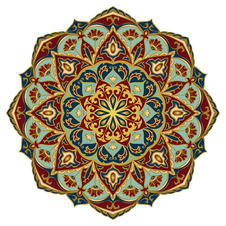 Vector abstract mandala. Design element. Oriental elegant ornament. Ilustração