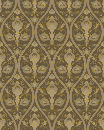 Pattern with ornamental flowers. Floral ornament. Template for wallpaper, textile, shawl, carpet and any surface.