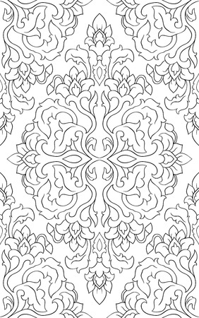 Vector floral pattern. Oriental template for textile, shawl, wallpaper, carpet.