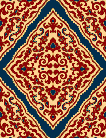 Oriental abstract ornament. Template for carpet, textile and any surface. Seamless vector pattern. 일러스트