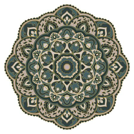 Vector abstract mandala. Design element. Oriental elegant ornament. Illusztráció