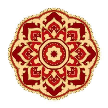 Vector abstract mandala. Design element. Oriental elegant ornament. Ilustração