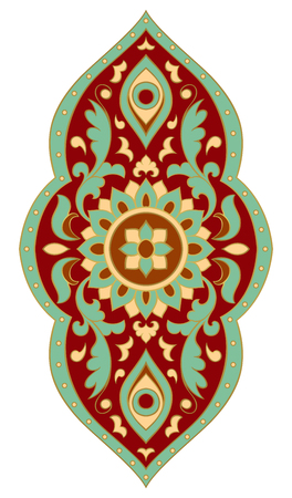 Abstract medallion for design. Template for carpet, wallpaper, textile and any surface. Colorful pattern on a white background. Illustration