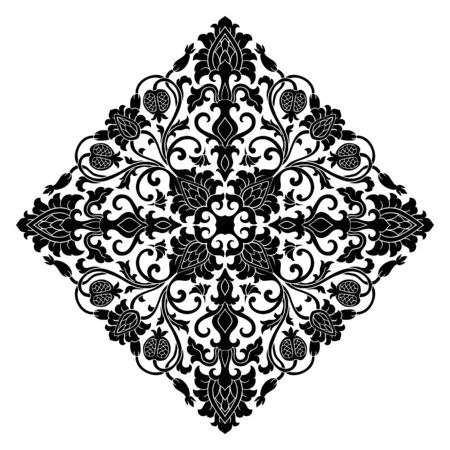 Floral medallion for design. Template for carpet, wallpaper, textile and any surface.