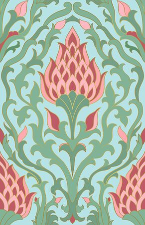 Oriental abstract ornament. Template for carpet, textile and any surface. Seamless vector pattern.  イラスト・ベクター素材