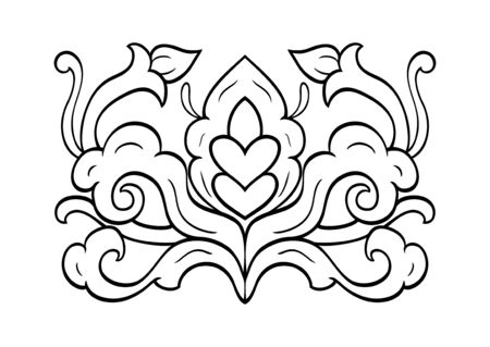 Medieval design element. Simple template for carpet, wallpaper, textile and any surface. Vector abstract ornament on a white background.