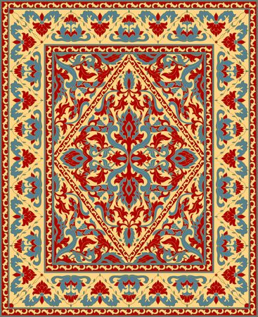 Colorful template for carpet, textile, shawl.