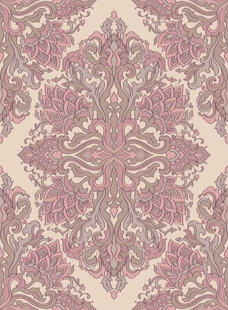 Seamless pattern of oriental floral ornament.