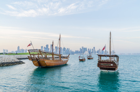 Traditional boat at Doha, Qatar