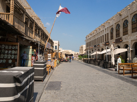 souq: Souq Waqif is popular marketplace in Doha, Qatar. The souq is noted for selling traditional garments, spices, handicrafts, and souvenirs.