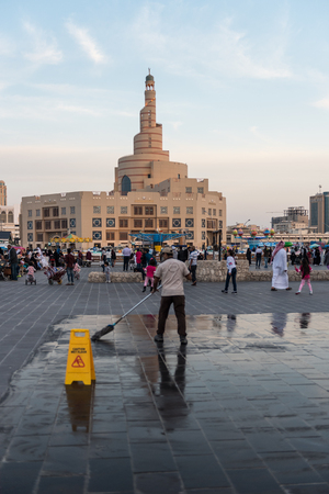 Tourist and local at Souq Wakif Doha, Qatar.
