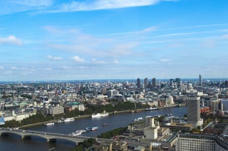 london eye: view of London from the london eye