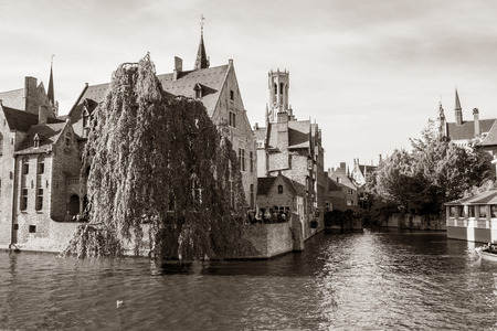 Traditional house on the canal.  photo