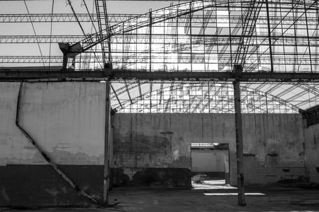 abandoned factory: Interior of a Abandoned Factory
