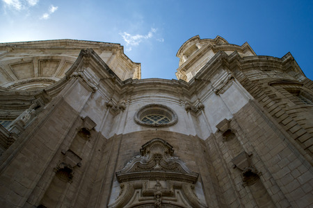 cadiz: Low angle view of Cadiz cathedral