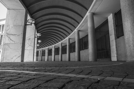 eur: Colonnade of inps39s palace in EUR neighborhood. Rome