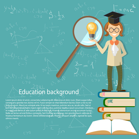 cosine: Education, teacher, back to school, open textbook, students, math classes, physics, chemistry, power of the mind, training, college, university, math, sine, cosine, algebra, formula, geometry, vector illustration