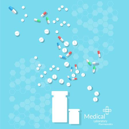많은 의학 알 약 및 정제 캡슐 치료 약물은 항생제 pharmacymedical를 의사