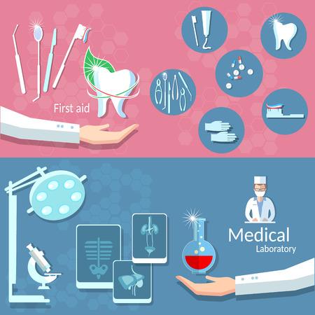operating room: Medicina odontolog�a salud cirug�a cuidado tratamiento dental de donaci�n de sangre m�dico de sala de operaciones de rayos x banderas del vector
