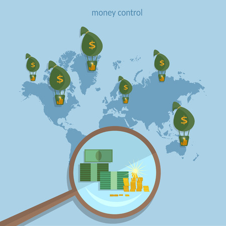 transactions: World money traffic concept global monetary system transactions collect money online payments transfer banking finance business