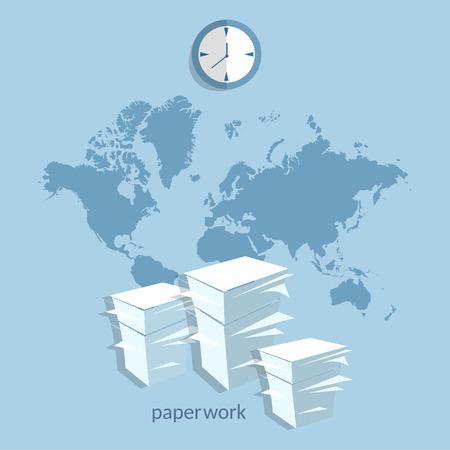 financial report: World online clouds documentation concept business international office exchange documents financial report