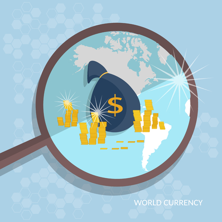 money online: Control money concept america funding business finance bags money transfer online dollar signs payments banking vector