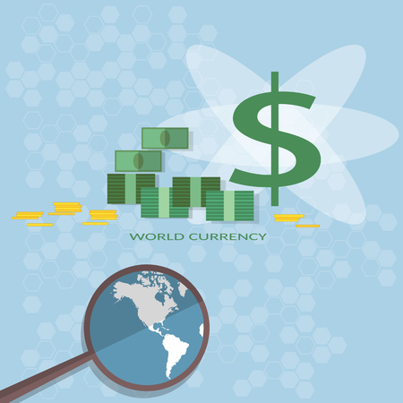 investors: Money financing investments search for investors business online payments transfer banking vector