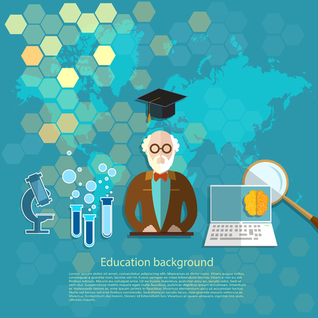 pedagogical: Education and science professor teachers in the classroom e-learning International lecture vector illustration Illustration