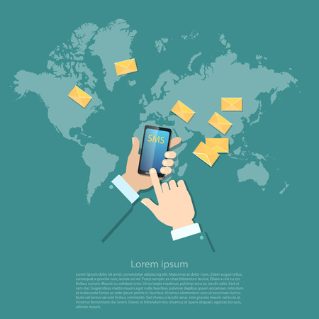 touch screen phone: Global communications sending messages mms sms touch screen mobile phone