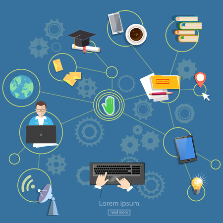 distance learning: Social networks distance learning webinars and consultations on the internet