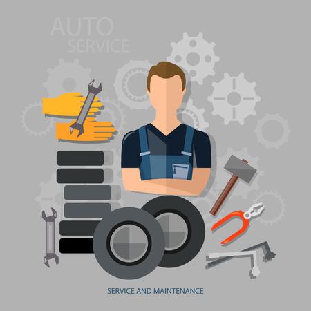 auto repair: Auto service auto repair auto mechanic tire service