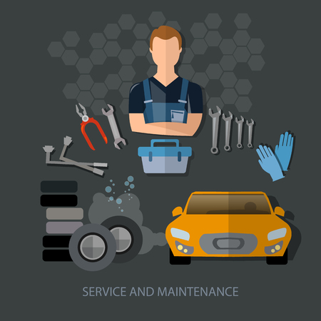 auto service: Auto service auto repair auto mechanic tire service car diagnostics