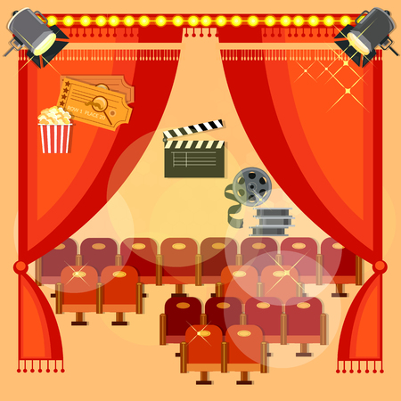 film festival: Movie theater cinema festival cinematography theatre interior screen chairs