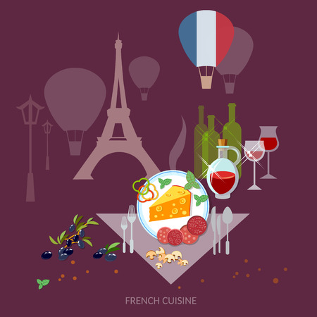 french culture: French Cuisine and culture France food french wine and cheese restaurant menu template