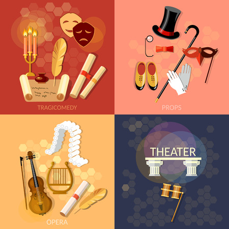 operetta: Theatre flat theater set musical operetta entertainment and performance elements literature dramaturgy
