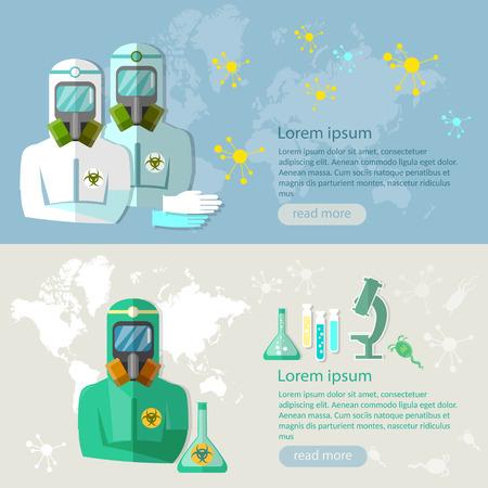 spores: Viruses and diseases biological threat epidemic disease illustration
