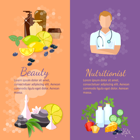 natural cosmetics: Beauty and health banner spa natural cosmetics dietetics professional nutritionist