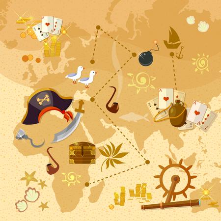 Piraat schatkaart Sea Adventures