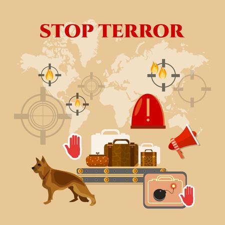 terror: Stop terror poster