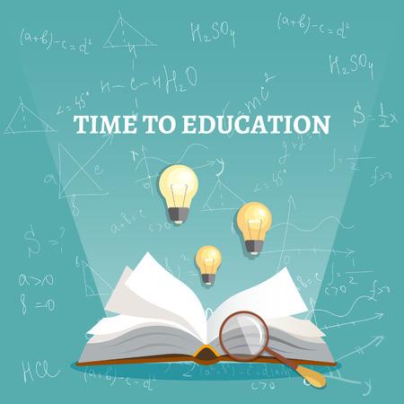 Education beam of light from an open book vector illustration Illustration