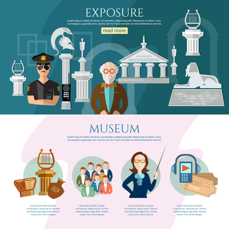 art museum: Museum infographics history and culture of civilization guide museum illustration